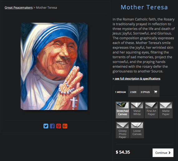 Shop for Mother Teresa art prints